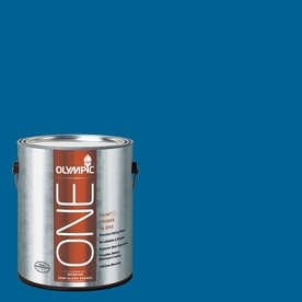 Olympic ONE 114 Fluid Ounce(S) Interior Semi-Gloss Suddenly Sapphire Paint and Primer In One