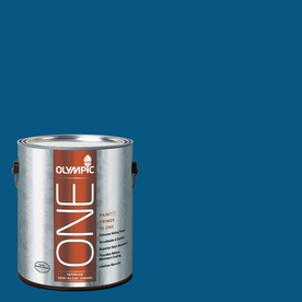 Olympic ONE 114 Fluid Ounce(S) Interior Semi-Gloss Brilliant Blue Paint and Primer In One