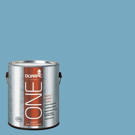 Olympic ONE Serene Sea Semi-Gloss Latex Interior Paint and Primer In One (Actual Net Contents: 116-fl oz)