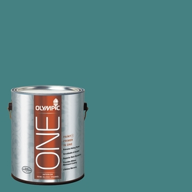 Olympic ONE 114 Fluid Ounce(S) Interior Semi-Gloss Teal Zeal Paint and Primer In One
