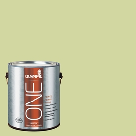 Olympic ONE Lettuce AlONE Semi-Gloss Latex Interior Paint and Primer In One (Actual Net Contents: 124-fl oz)