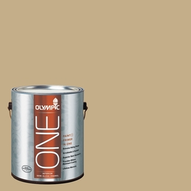 Olympic ONE Earthy Cane Semi-Gloss Latex Interior Paint and Primer In One (Actual Net Contents: 124-fl oz)