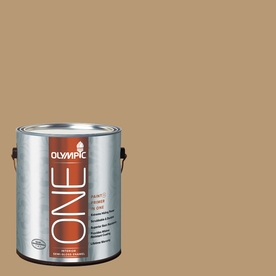 Olympic ONE Earthy Ocher Semi-Gloss Latex Interior Paint and Primer In One (Actual Net Contents: 116-fl oz)