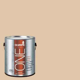 Olympic ONE Vanilla Brandy Semi-Gloss Latex Interior Paint and Primer In One (Actual Net Contents: 124-fl oz)