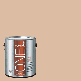 Olympic ONE Weathered SandstONE Semi-Gloss Latex Interior Paint and Primer In One (Actual Net Contents: 124-fl oz)