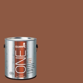 Olympic ONE Spiced Cider Semi-Gloss Latex Interior Paint and Primer In One (Actual Net Contents: 114-fl oz)