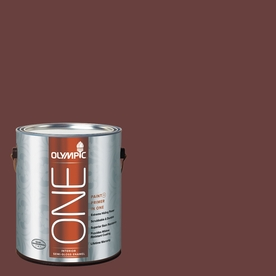 Olympic ONE 114 Fluid Ounce(S) Interior Semi-Gloss Burgundy Wine Paint and Primer In One