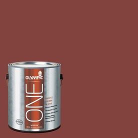 Olympic ONE 114 Fluid Ounce(S) Interior Semi-Gloss Brick Dust Paint and Primer In One