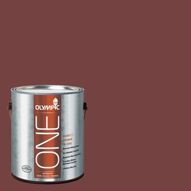 Olympic ONE Bordeaux Semi-Gloss Latex Interior Paint and Primer In One (Actual Net Contents: 114-fl oz)