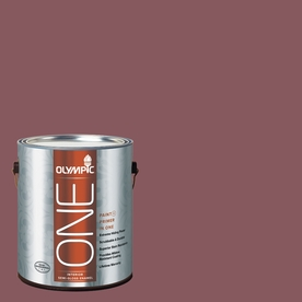 Olympic ONE 114 Fluid Ounce(S) Interior Semi-Gloss Old Burgundy Paint and Primer In One