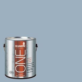 Olympic ONE Sterling Silver Semi-Gloss Latex Interior Paint and Primer In One (Actual Net Contents: 124-fl oz)