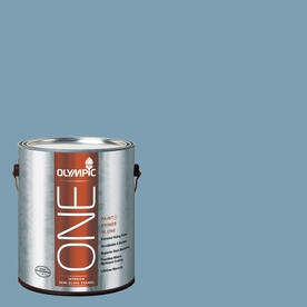 Olympic ONE Feelin-ft Blue Semi-Gloss Latex Interior Paint and Primer In One (Actual Net Contents: 116-fl oz)