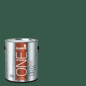 Olympic ONE 114 Fluid Ounce(S) Interior Semi-Gloss Billiard Green Paint and Primer In One