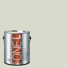 Olympic ONE Pale Vista Semi-Gloss Latex Interior Paint and Primer In One (Actual Net Contents: 124-fl oz)