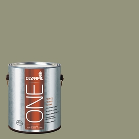 Olympic ONE Cavern Moss Semi-Gloss Latex Interior Paint and Primer In One (Actual Net Contents: 116-fl oz)