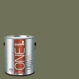 Olympic ONE 114 Fluid Ounce(S) Interior Semi-Gloss Dark Sage Paint and Primer In One