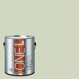 Olympic ONE Pale Moss Green Semi-Gloss Latex Interior Paint and Primer In One (Actual Net Contents: 124-fl oz)