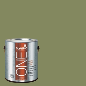 Olympic ONE Moss Point Green Semi-Gloss Latex Interior Paint and Primer In One (Actual Net Contents: 114-fl oz)