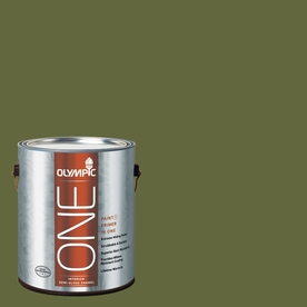 Olympic ONE Globe Artichoke Semi-Gloss Latex Interior Paint and Primer In One (Actual Net Contents: 114-fl oz)