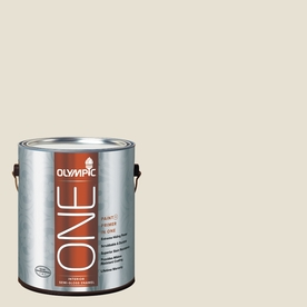 Olympic ONE Off White Semi-Gloss Latex Interior Paint and Primer In One (Actual Net Contents: 124-fl oz)