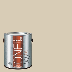 Olympic ONE Toasted Almond Semi-Gloss Latex Interior Paint and Primer In One (Actual Net Contents: 124-fl oz)
