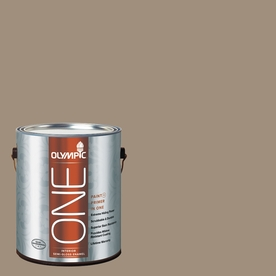 Olympic ONE Oyster Shell Semi-Gloss Latex Interior Paint and Primer In One (Actual Net Contents: 116-fl oz)