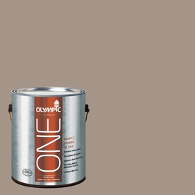 Olympic ONE Earl Gray Semi-Gloss Latex Interior Paint and Primer In One (Actual Net Contents: 116-fl oz)