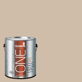 Olympic ONE 124 Fluid Ounce(S) Interior Semi-Gloss Camel Paint and Primer In One