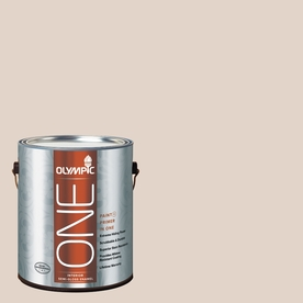 Olympic ONE Toast Semi-Gloss Latex Interior Paint and Primer In One (Actual Net Contents: 124-fl oz)