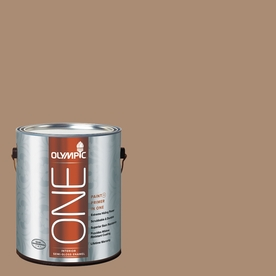 Olympic ONE Hot Chocolate Semi-Gloss Latex Interior Paint and Primer In One (Actual Net Contents: 116-fl oz)