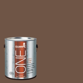 Olympic ONE Chocolate Truffle Semi-Gloss Latex Interior Paint and Primer In One (Actual Net Contents: 114-fl oz)