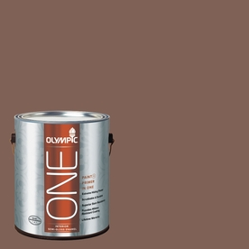 Olympic ONE 114 Fluid Ounce(S) Interior Semi-Gloss Belgian Chocolate Paint and Primer In One
