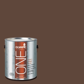 Olympic ONE Fudge Semi-Gloss Latex Interior Paint and Primer In One (Actual Net Contents: 114-fl oz)