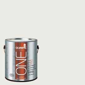 Olympic ONE 124 Fluid Ounce(S) Interior Semi-Gloss Silver Feather Paint and Primer In One