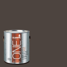 Olympic ONE Dark Granite Semi-Gloss Latex Interior Paint and Primer In One (Actual Net Contents: 114-fl oz)