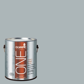 Olympic ONE Smoke Screen Semi-Gloss Latex Interior Paint and Primer In One (Actual Net Contents: 124-fl oz)