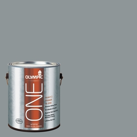Olympic ONE 116 Fluid Ounce(S) Interior Semi-Gloss Steeple Gray Paint and Primer In One