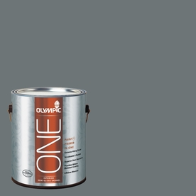 Olympic ONE 114 Fluid Ounce(S) Interior Semi-Gloss Volcanic Ash Paint and Primer In One