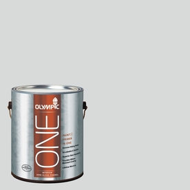 Olympic ONE 124 Fluid Ounce(S) Interior Semi-Gloss Thin Ice Paint and Primer In One