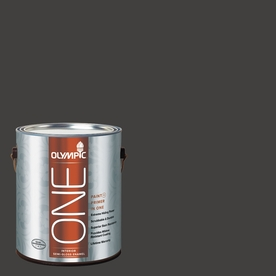 Olympic ONE 114 Fluid Ounce(S) Interior Semi-Gloss Black Magic Paint and Primer In One