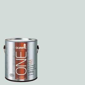 Olympic ONE 124 Fluid Ounce(S) Interior Semi-Gloss Morning Fog Paint and Primer In One