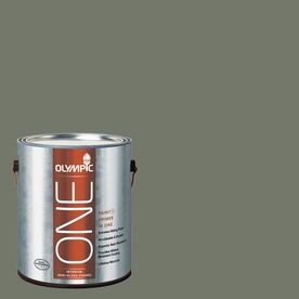 Olympic ONE 114 Fluid Ounce(S) Interior Semi-Gloss Thyme Green Paint and Primer In One