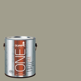 Olympic ONE 116 Fluid Ounce(S) Interior Semi-Gloss Smoky Slate Paint and Primer In One