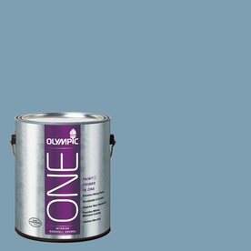 Olympic ONE 116 Fluid Ounce(S) Interior Eggshell Feelin-ft Blue Paint and Primer In One