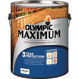 Olympic Maximum Clear Exterior Stain (Actual Net Contents: 128-fl oz)