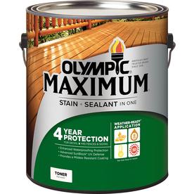 Olympic Maximum Honey Gold Toner Exterior Stain (Actual Net Contents: 128-fl oz)