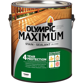 Olympic Maximum Canyon Brown Toner Exterior Stain (Actual Net Contents: 128-fl oz)