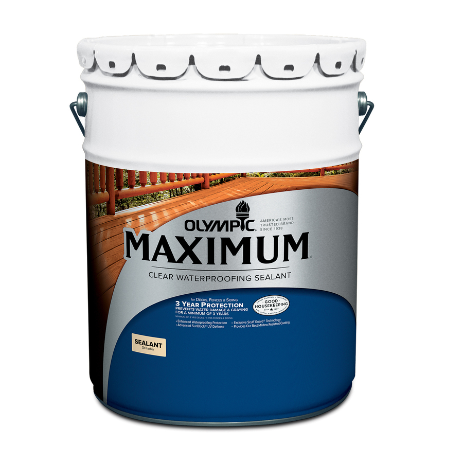 Shop Olympic Maximum 5 Gallon Size Container Clear Exterior Stain Actual Net Contents 640 Fl