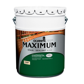 Olympic Maximum Canyon Brown Semi-Transparent Exterior Stain (Actual Net Contents: 640-fl oz)