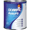 Olympic White Flat Latex Interior Paint and Primer In One Paint (Actual Net Contents: 31 Fluid Oz.)